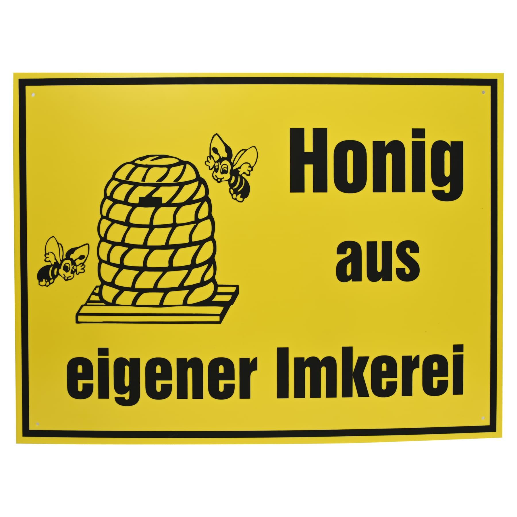 """Werbeschild """"Honig  aus eigener Imkerei"""", sehr gross, 70 x 50 cm"""