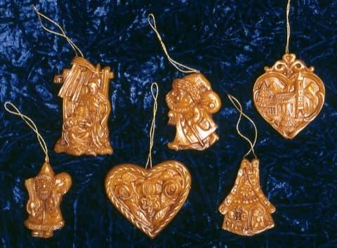 Kerzenform 335 Christbaumschmuck 6 St.