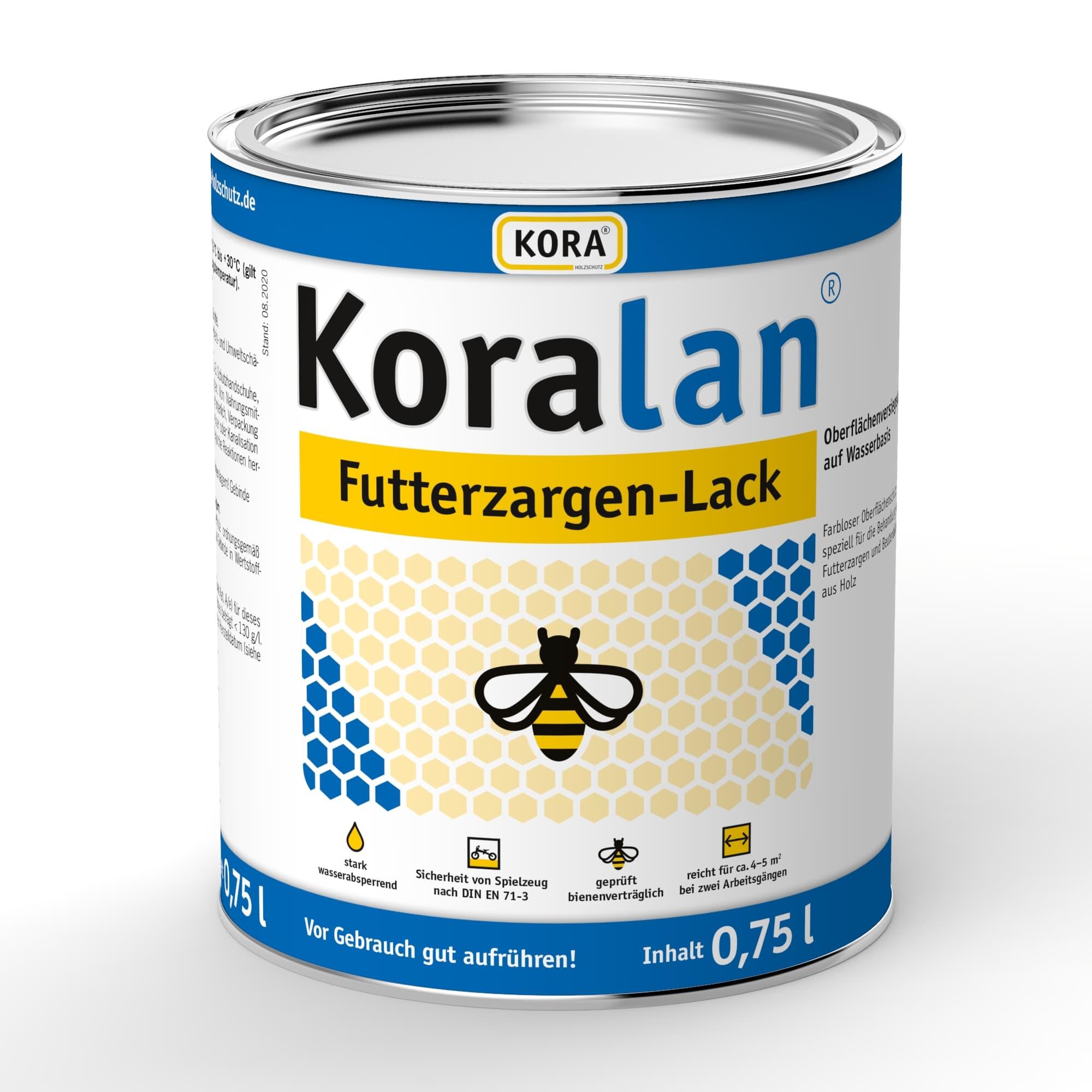Koralan Futterzargen Lack (farblos) 750 ml die bessere Alternative zum Bottichlack, zum Versiegeln von Futterzargen aus Holz und Styropor