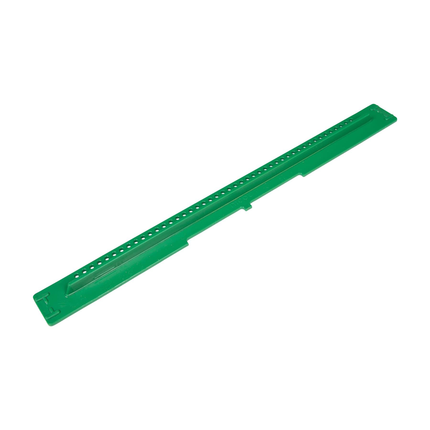 Fluglochschieber 419 x 38 x 3 mm original Nicot grün, mit Gitter und Fluglochschlitz, undruchlässig für asiatische Hornisse und Drohne