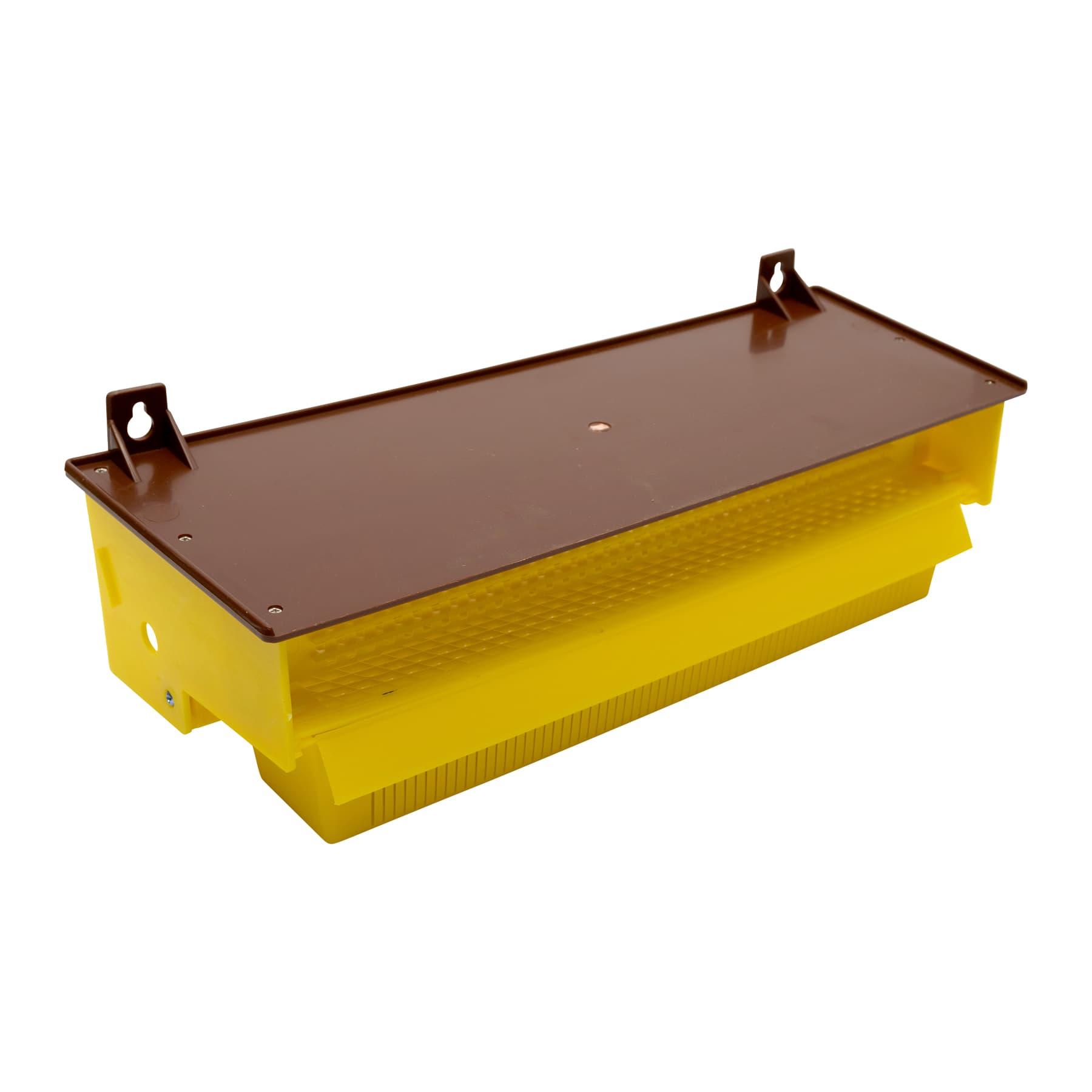 Pollenfalle aus gelbem/braunen Kunststoff, Standard ca. 40 x 15 x 10
