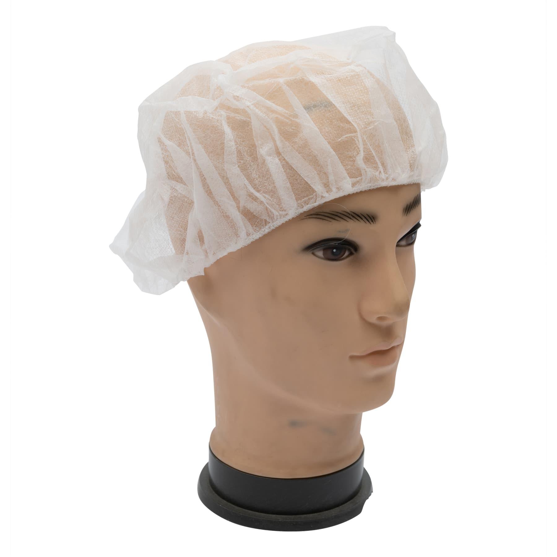 Kopfhaube (Haarschutz) 10 Stück zur besseren Hygiene bei der Honigverarbeitung, weiß 60 cm,