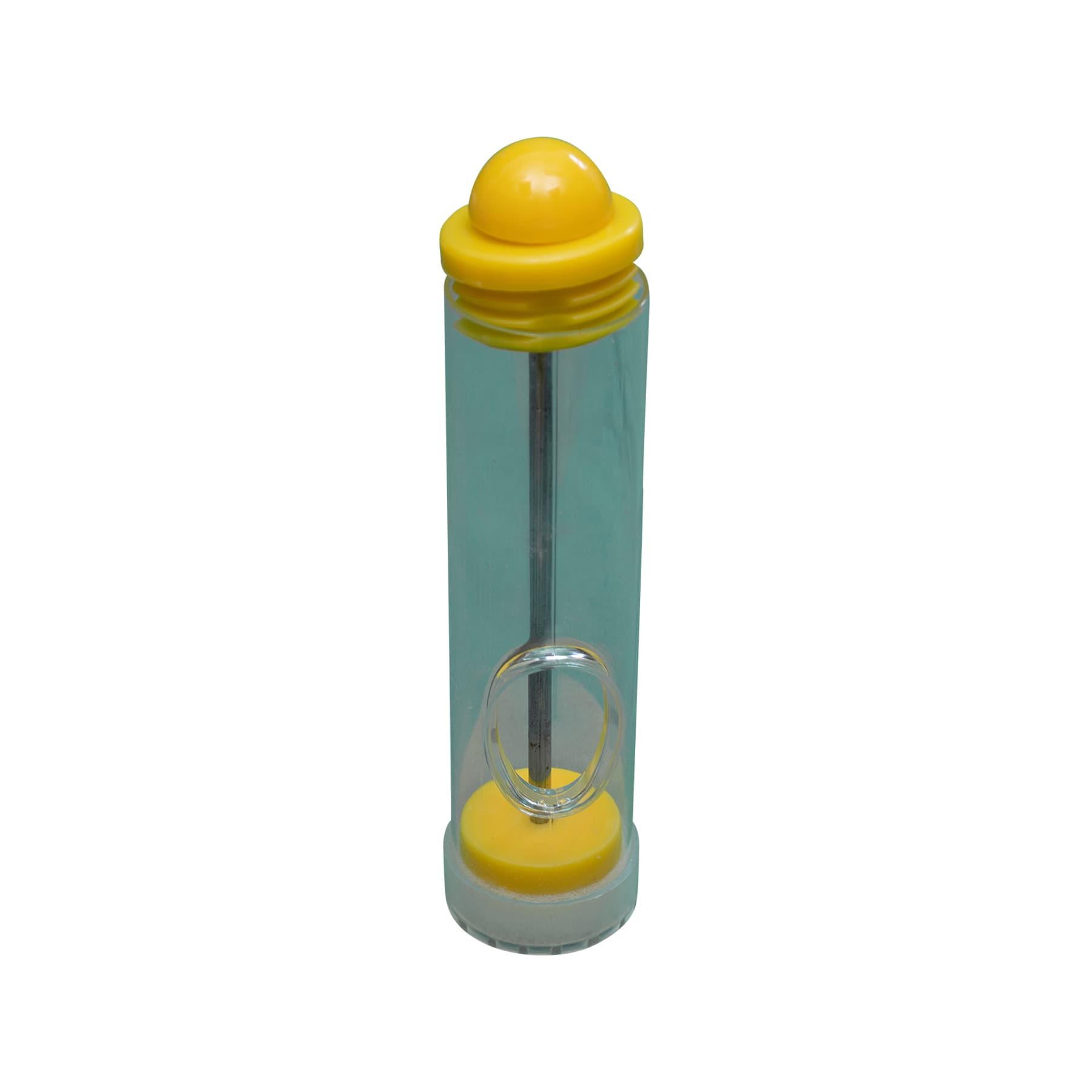 Zeichenrohr mit Schiebekork und seitlicher Öffnung, gelb