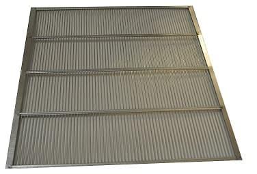 Absperrgitter Metall verzinkt 420 x 377 mm Liebig DN 10 Waben rundum  eingefaßt