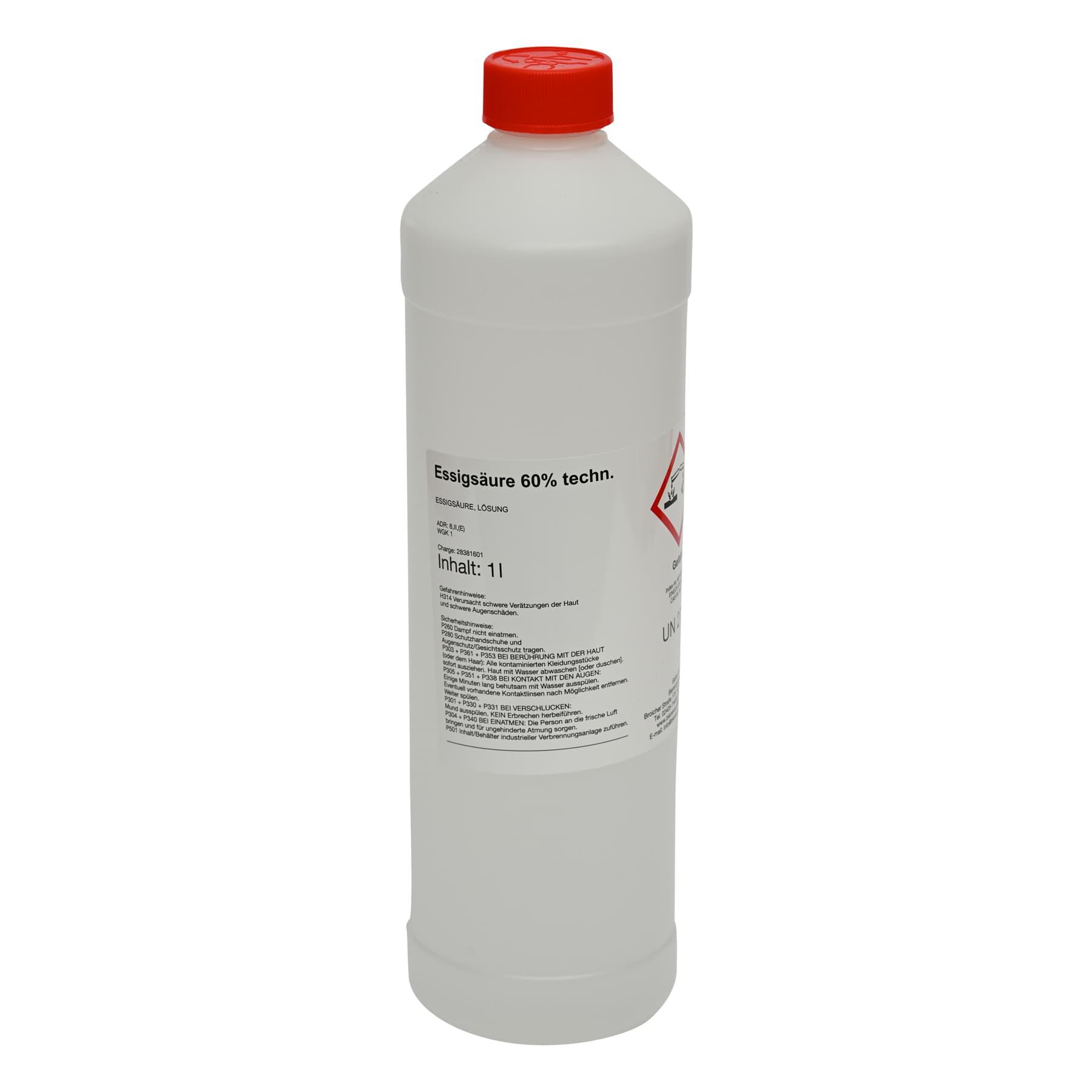 Essigsäure 60 % 1 Liter