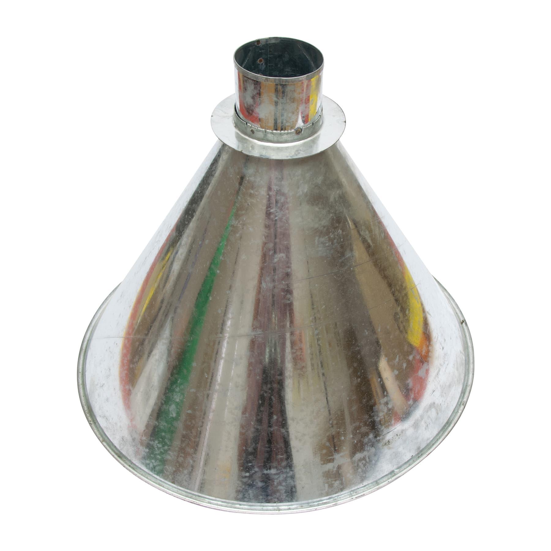 Abkehrtrichter Metall, unten 8 cm