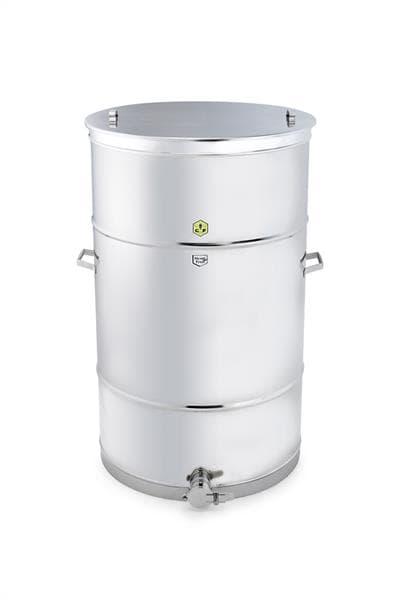 """Abfüllbehälter 600 kg mit Auflagedeckel und 2"""" Quetschhahn, original CFM  5309193"""