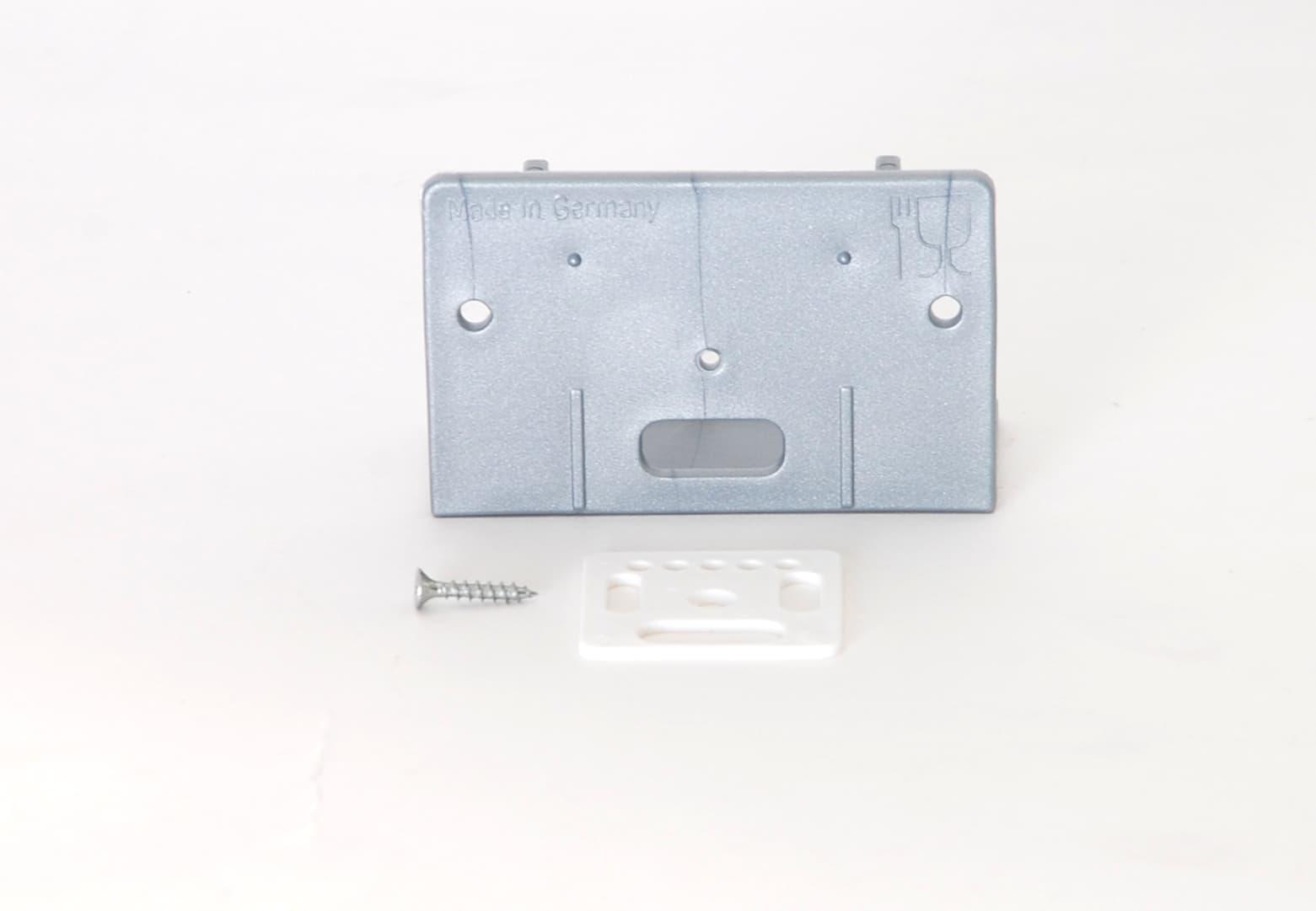 Mini Plus Fluglochdrohnensperre, zweiteilig grauer Grundkörper mit rechteckiger Drehscheibe BLAU