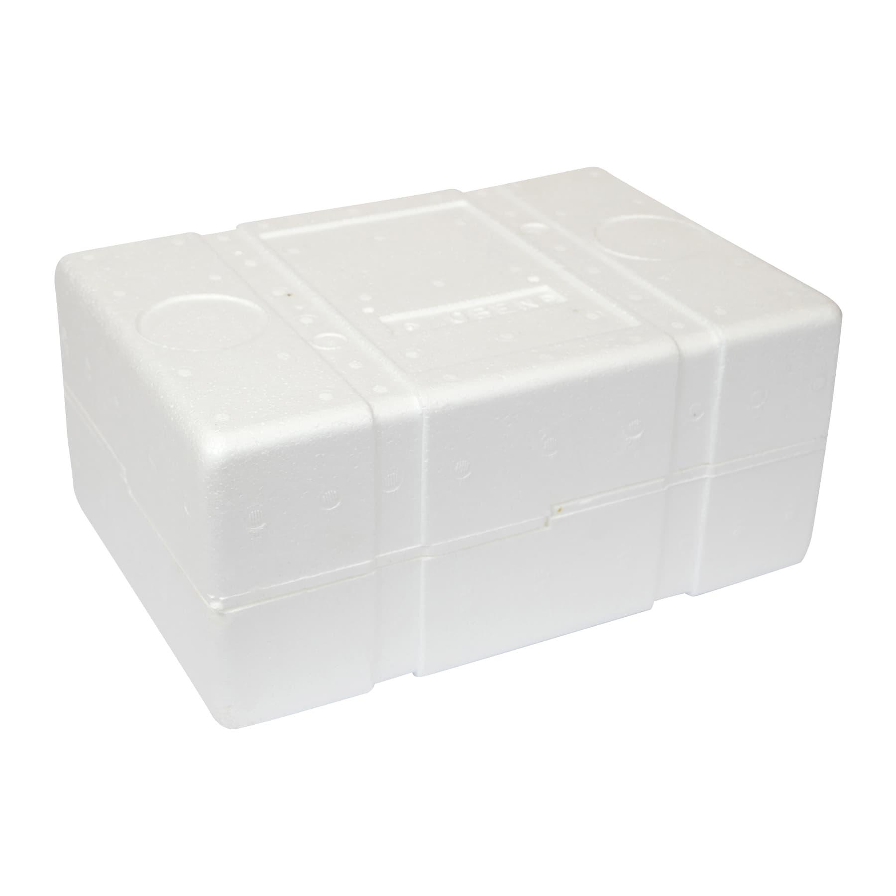 Verpackung aus Styropor für 6 Honiggläser