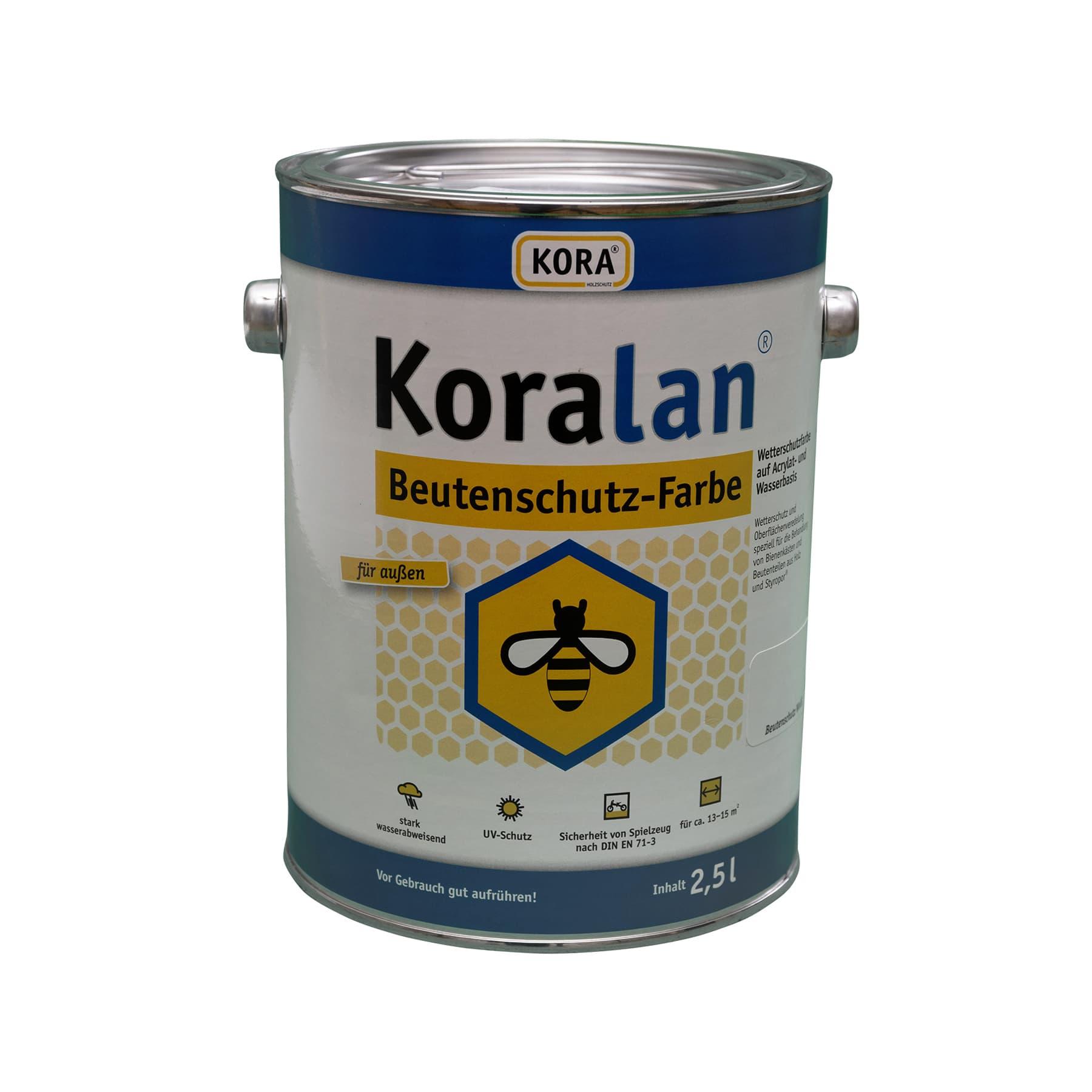 Koralan Beutenschutzfarbe gelb 2,5 l
