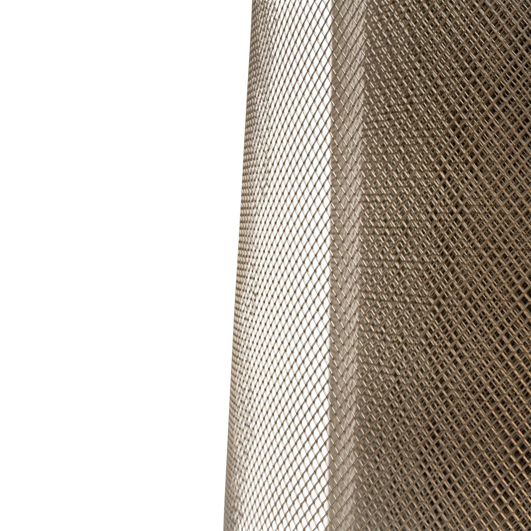 Edelstahlstreckgitter, bienendicht, Rollenware, 48,5 cm breit lfdm