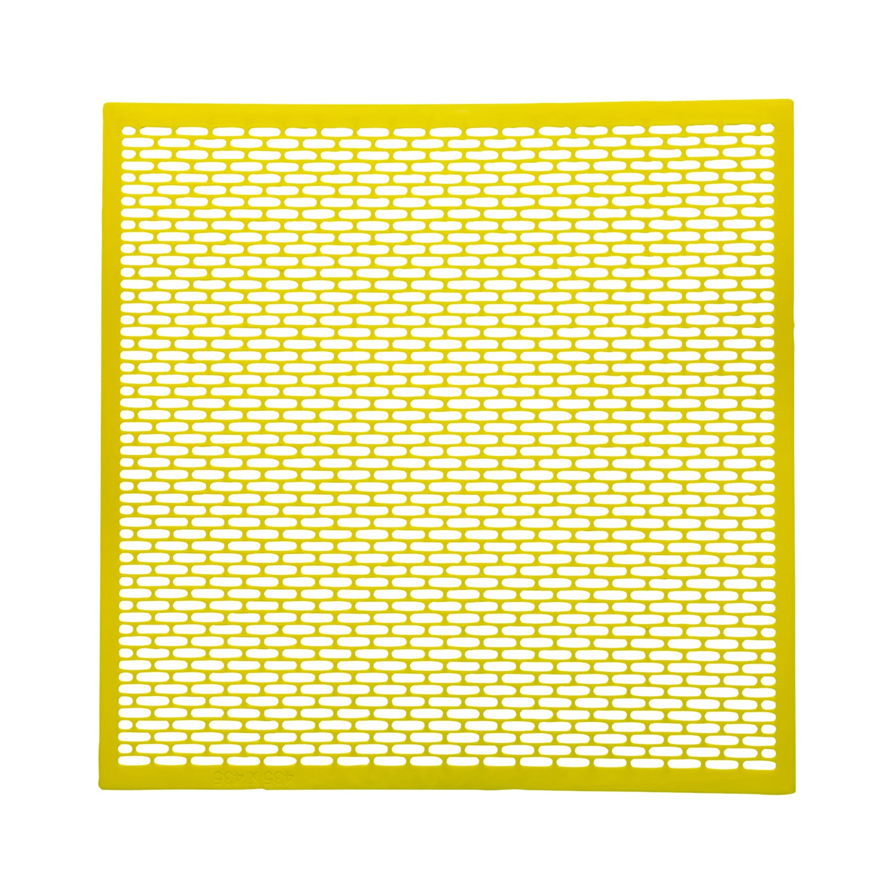 Absperrgitter Kunststoff, 500 x 500,  Dadant,  gelb