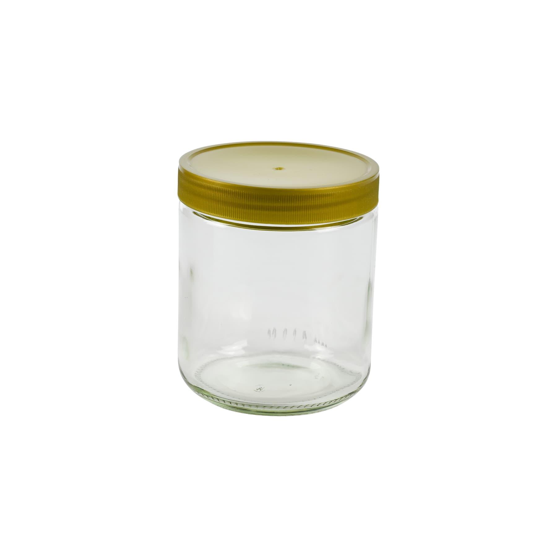 Rundglas 500 g mit 80 mm Schraub-Kunststoffdeckel lose zur Selbstabholung