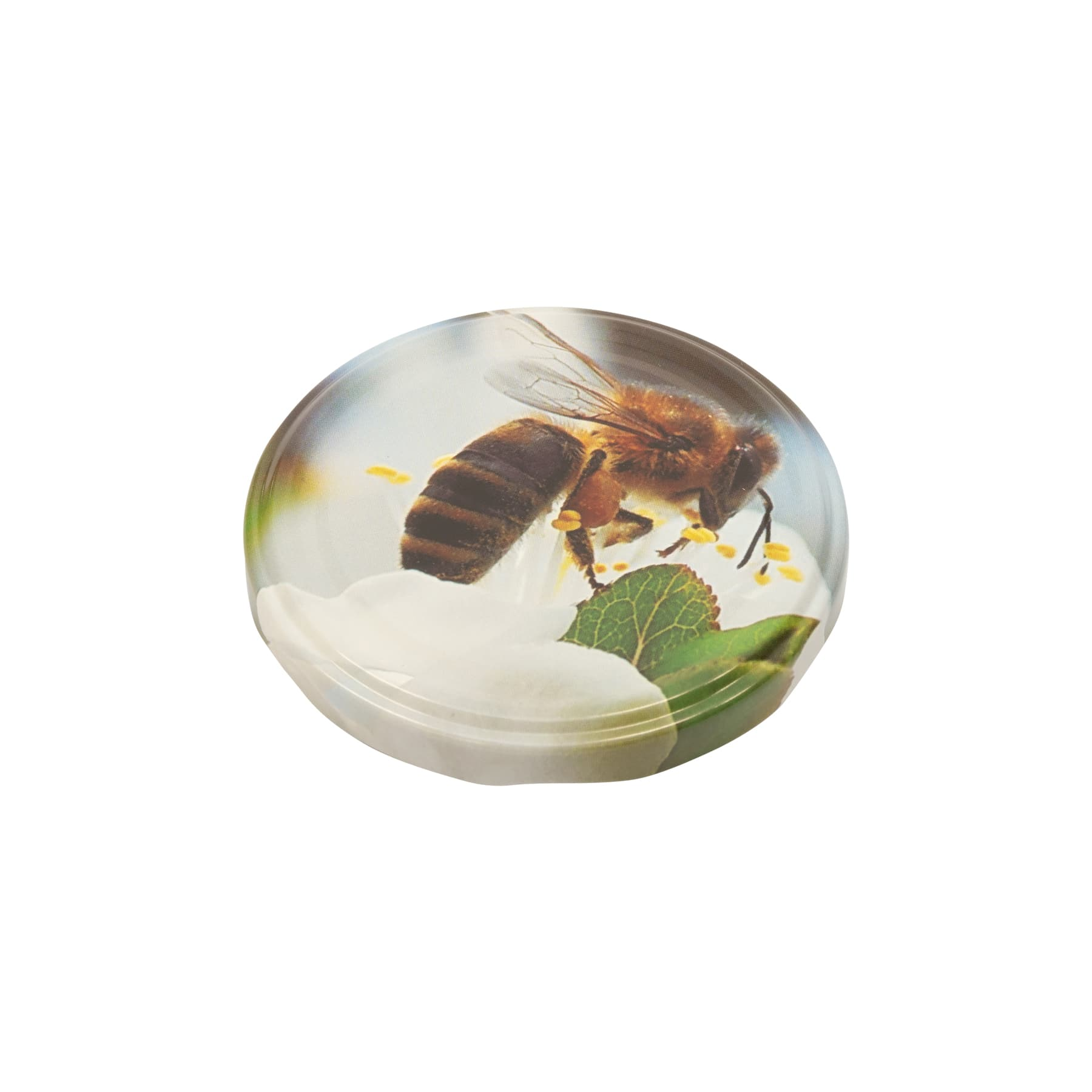 Twist Off Deckel Metall 82 mm Biene auf Apfelblüte