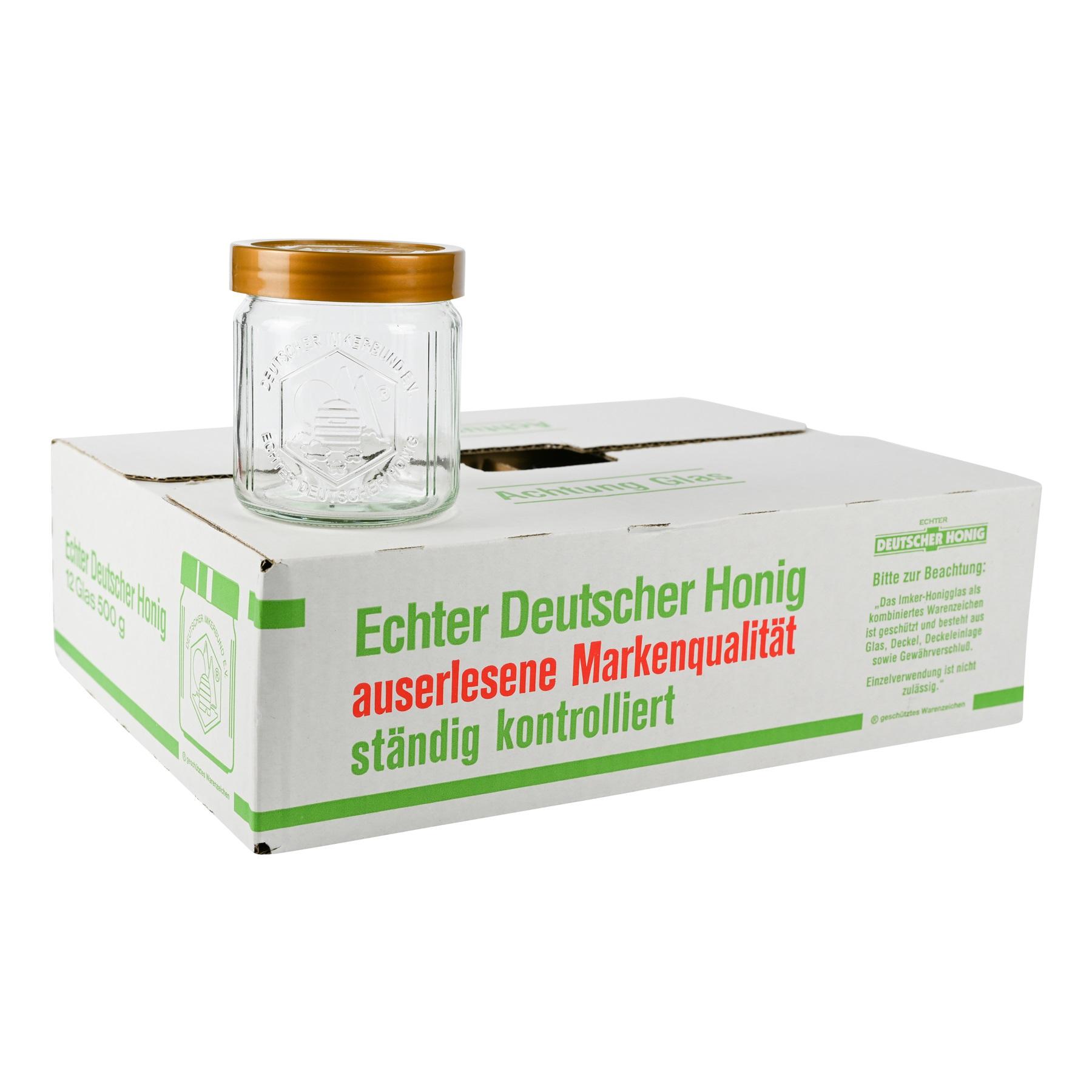 DIB - Glas 500 g  inkl. Deckel im Umkarton 108 St. frei Haus innerhalb Deutschlands versendet