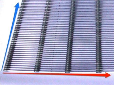 Absperrgitter aus Metall nach Wunschmaß (Draht x Brücke) rundum eingefaßt