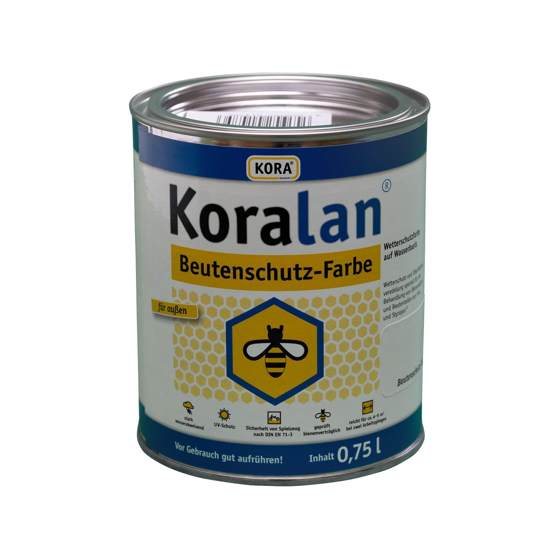 Koralan Beutenschutzfarbe weiß 750 ml