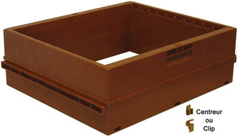 Nicot Dadant-Honigzarge Kunststoff (Thermoplast) mit Rechen für 9 Honigrahmen  Dadant Blatt (passend zum 10 Brutraum)