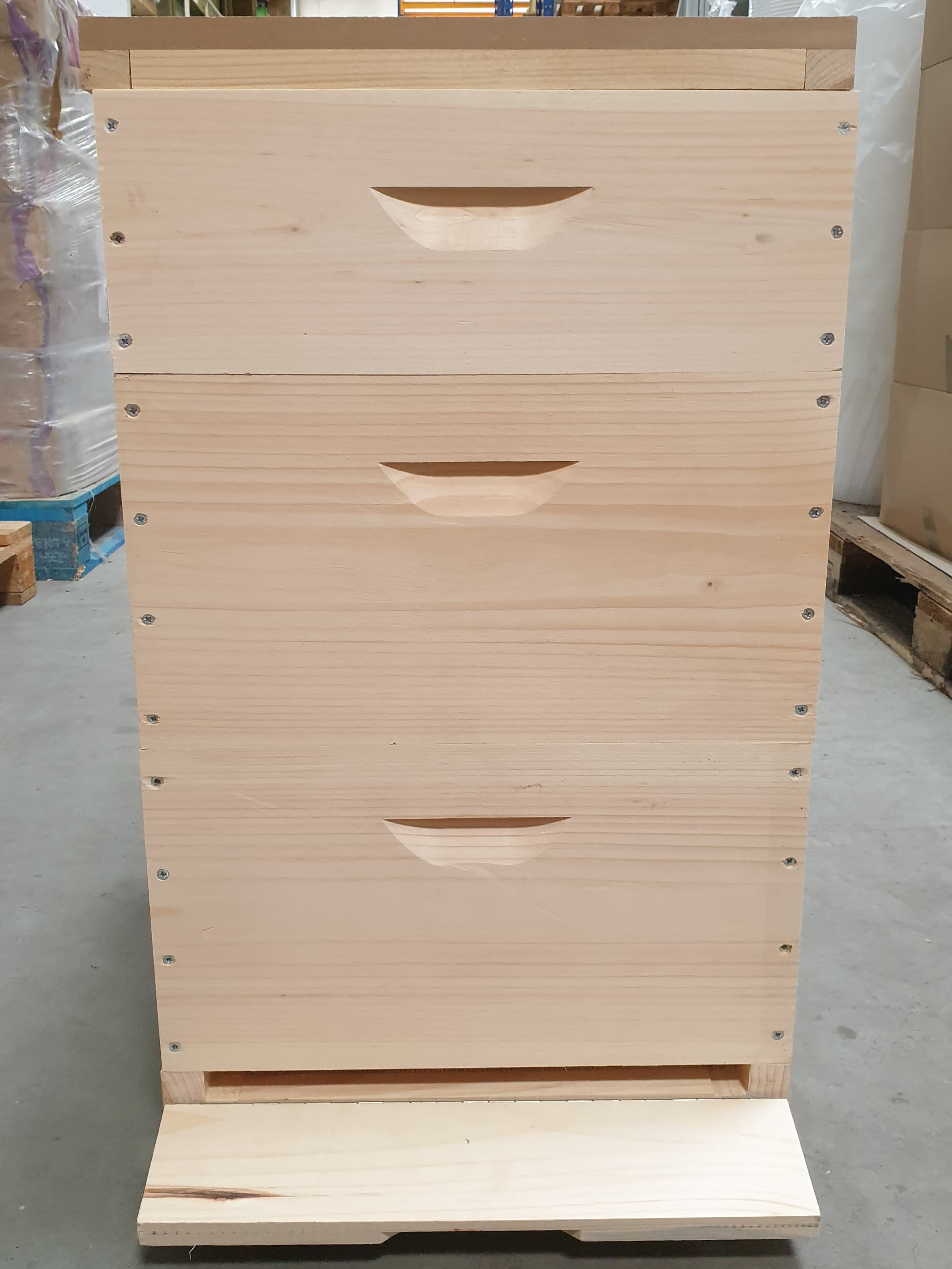 Simplexholzbeute: 1 Boden, 2 Br.-Zargen, 1Ho-Zarge, 1 Deckel