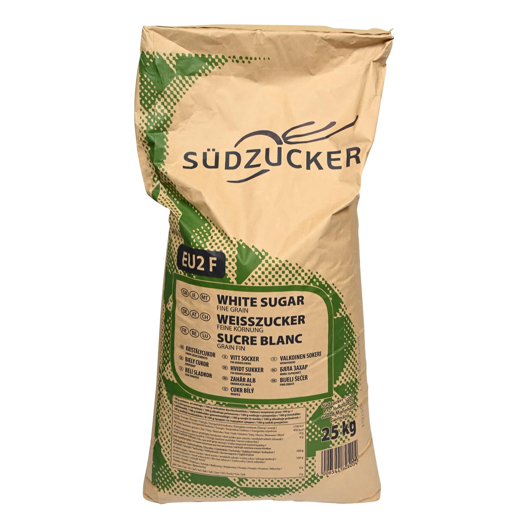 40 Säcke a 25 kg Kristallzucker (Lebensmittel auch für den menschlichen Verzehr)  = 1000 kg frei Haus innerhalb Deutschlands geliefert,