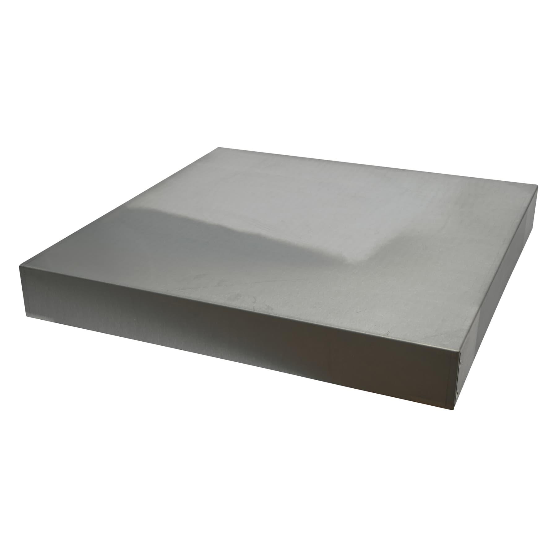 Blechdeckel, verzinkt rechtwinklig Innenmaß 520 x 520 x 68 mm für Dadantbeute 12 Waben