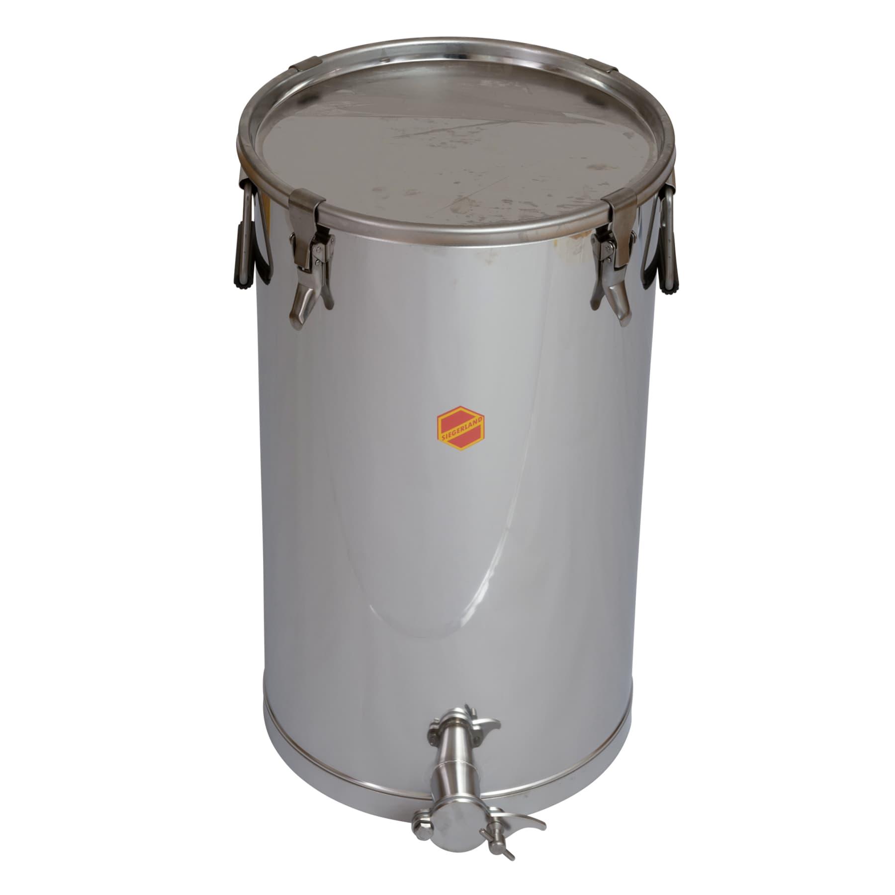 Abfüllbehälter  50 kg mit Spannverschlüssen