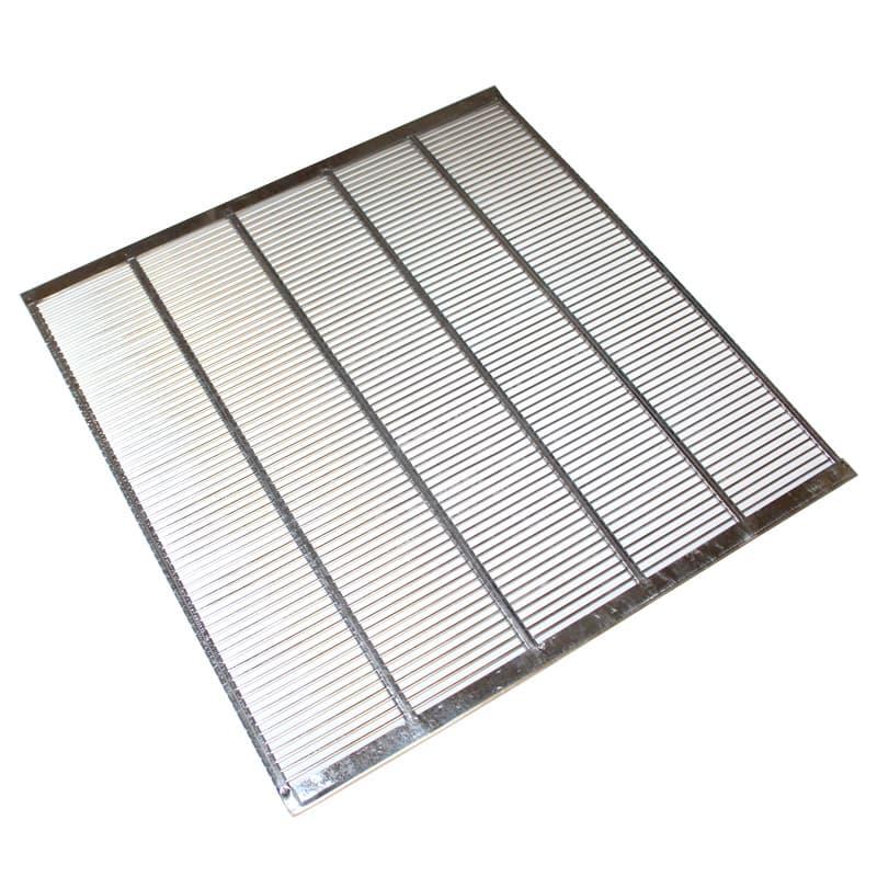 Absperrgitter Metall Edelstahl 500 x 500 mm für Dadant Beute 12 waben rundum eingefaßt