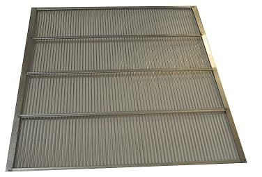 Absperrgitter Metall verzinkt 391 x 393 mm für 11 Waben DN Holzbeute rundum eingefaßt