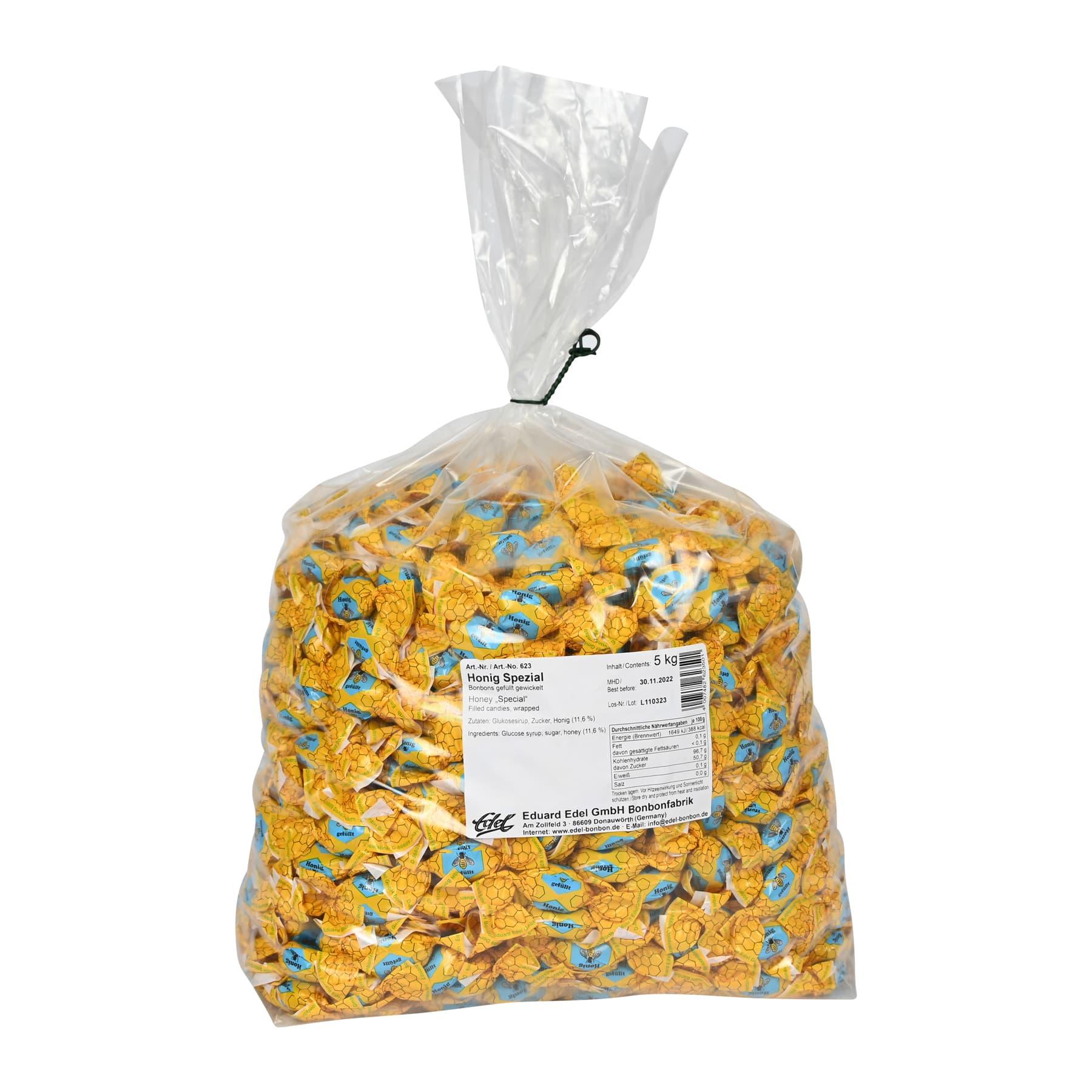 """Honigbonbon """"Spezial"""" gefüllt und gewickelt, im 5 kg Beutel"""