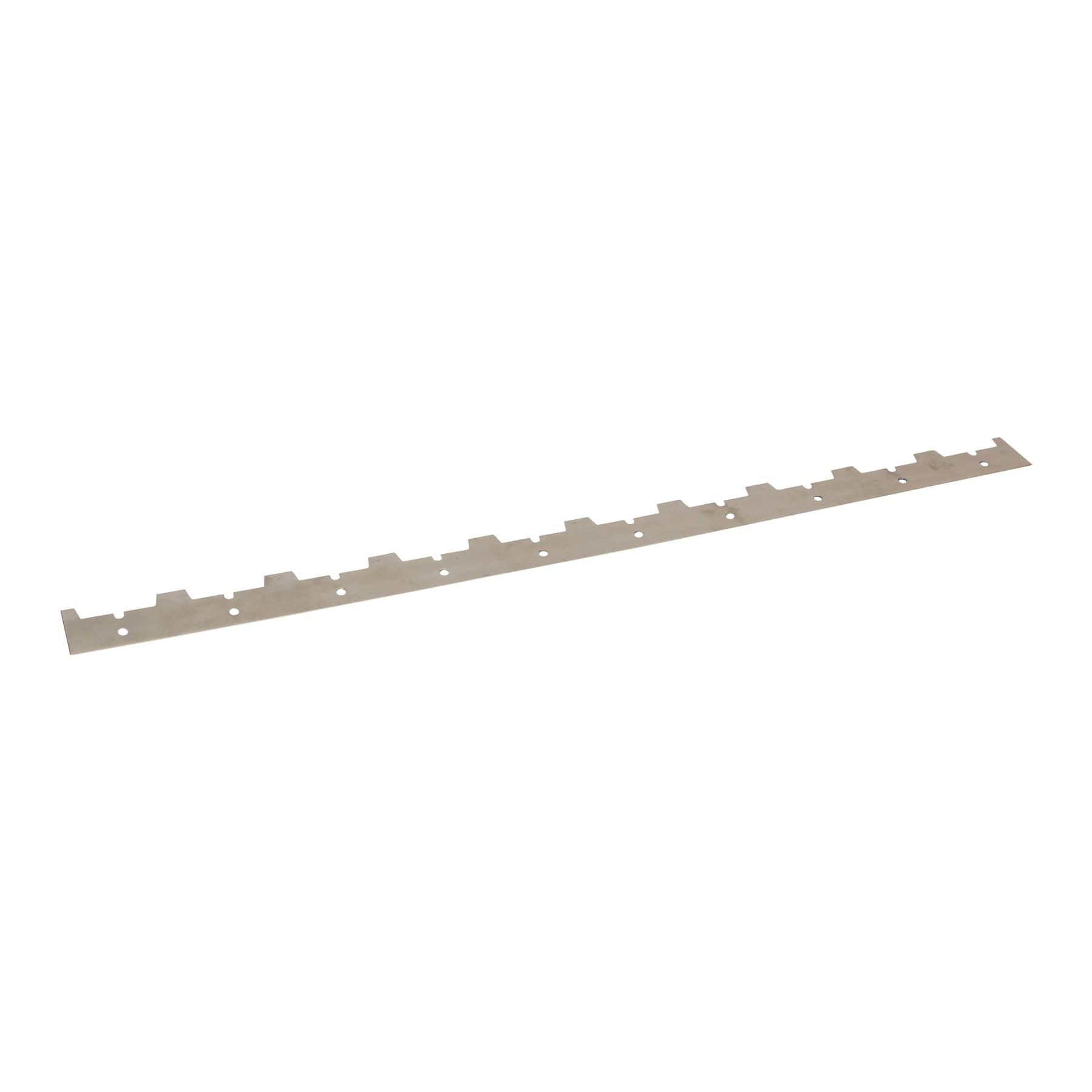Abstandsrechen Edelstahl für 25 mm Rähmchen 10 Waben auf 375 mm Länge, Standardabstand ca. 35 mm, verzinkt