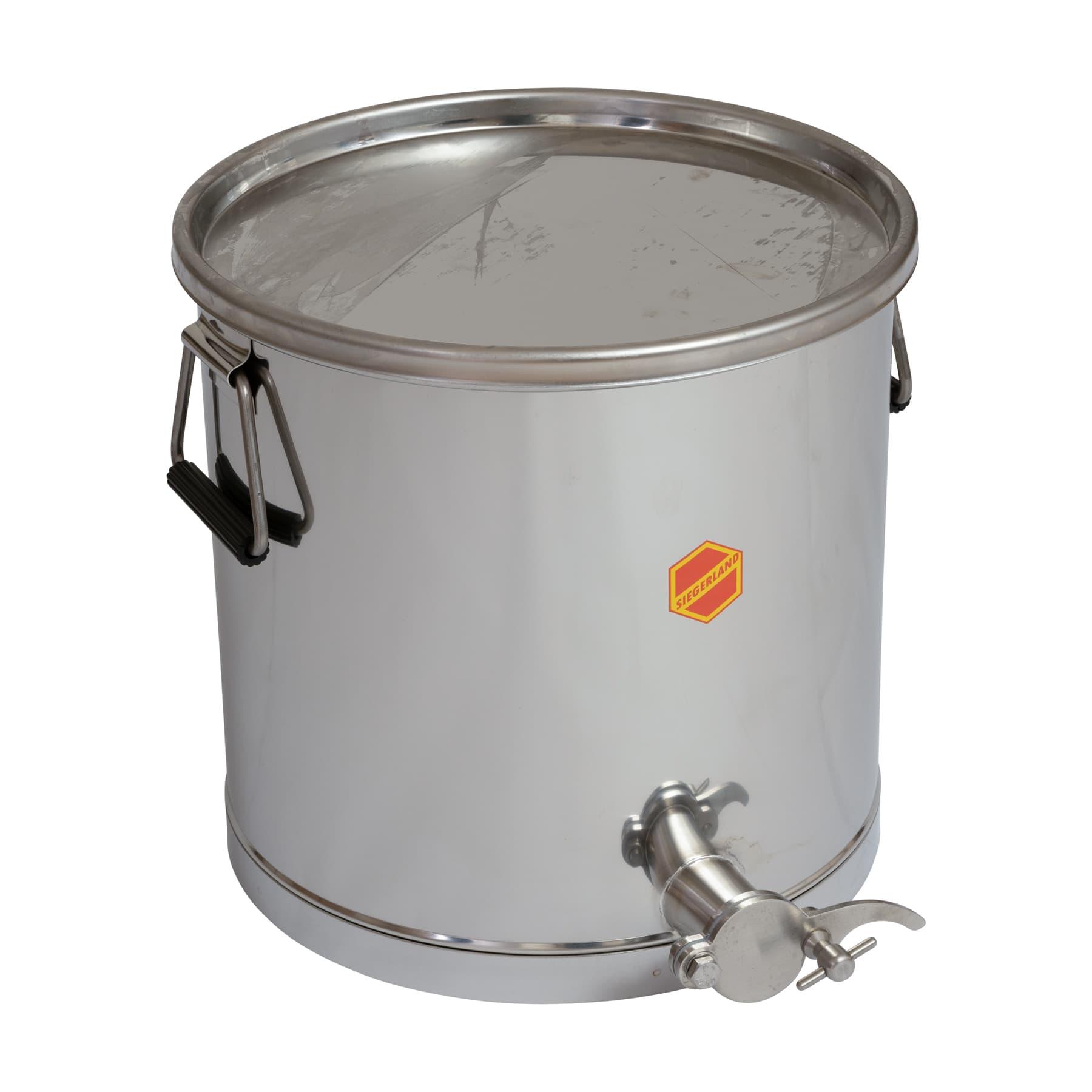 Abfüllbehälter 25 kg mit Auflagedeckel, Original Siegerland