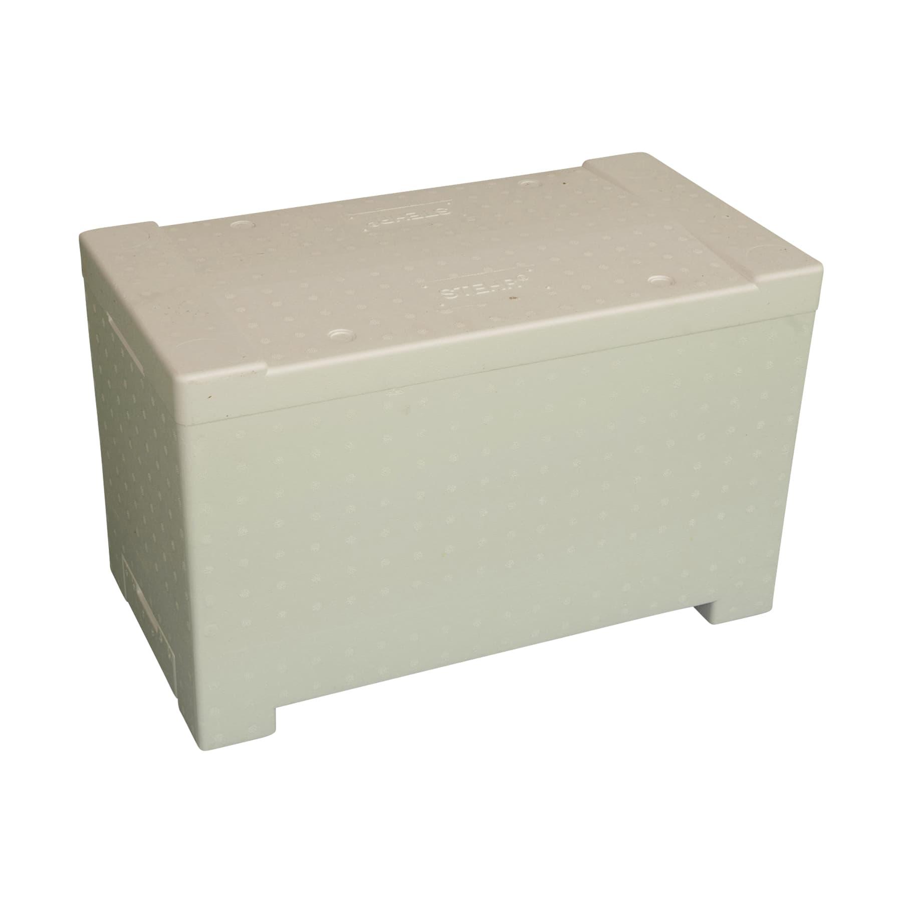 Stehr Ablegerkasten Dadant-modifiziert inkl. eingebautem Rechen (Dadant Standard) f. 6 Waben(482 x 285) aus Styropor, einschiebbares Flugbrett