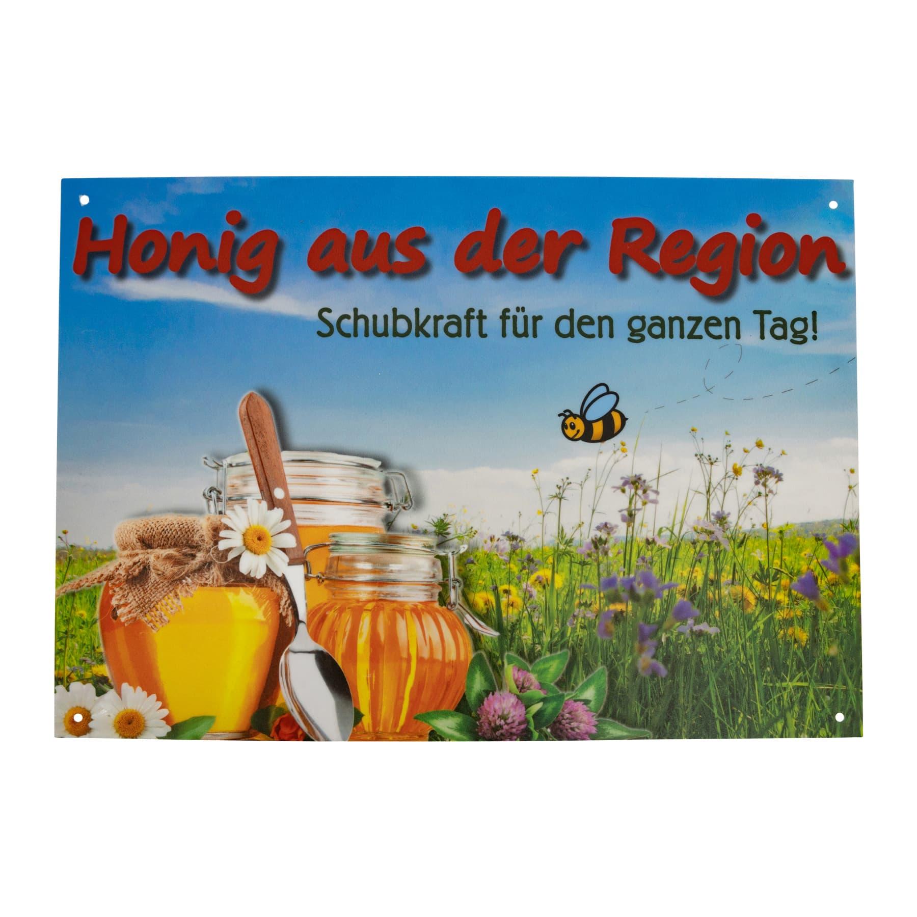 """Werbeschild """" Honig aus der Region"""" groß  29,5 cm x 21cm"""