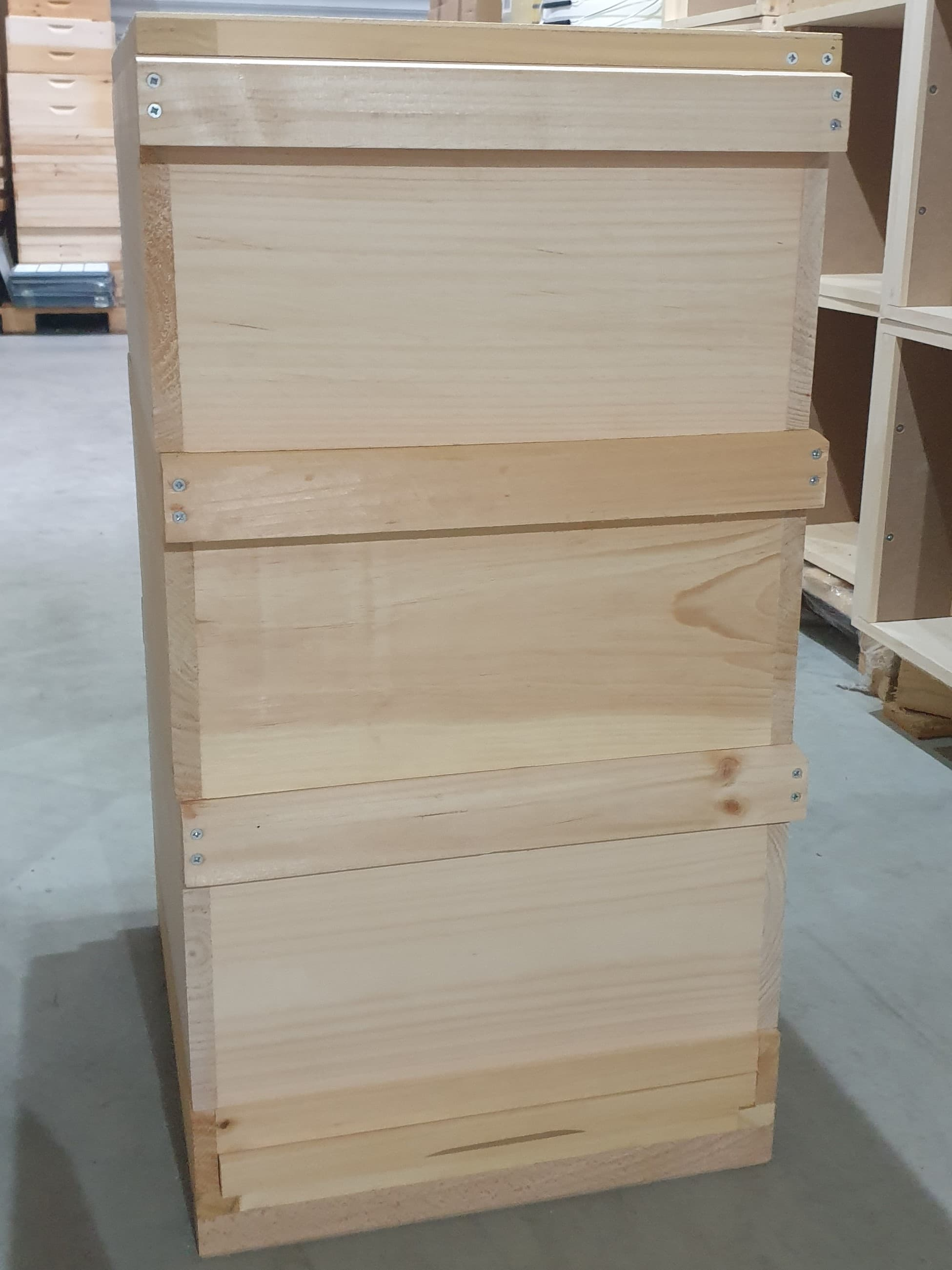 Holzbeute Herold kompl. 3 Zargen, Boden, Varroaschieblade und Deckel