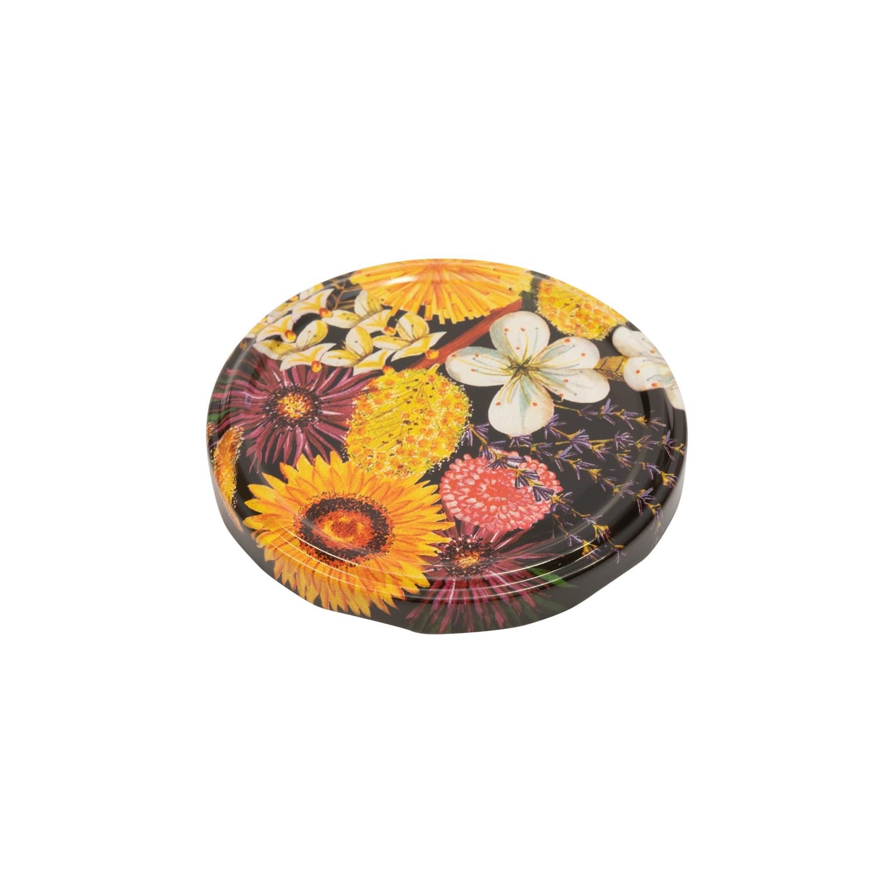 Twist Off Deckel Metall 82 mm Strohblume (flowers)