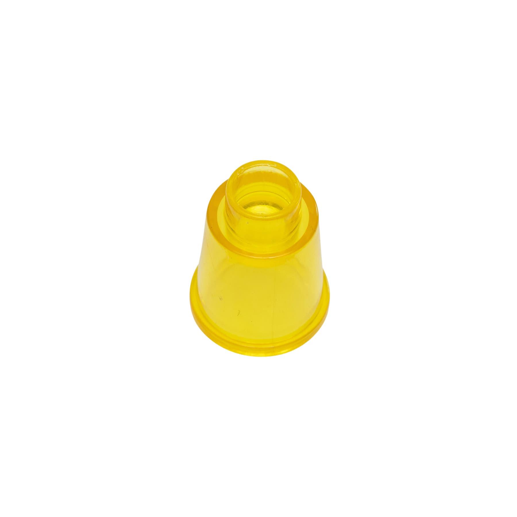 Zuchtstopfen inkl. Weiselnäpfchen aus gelbem Kunststoff, einteil