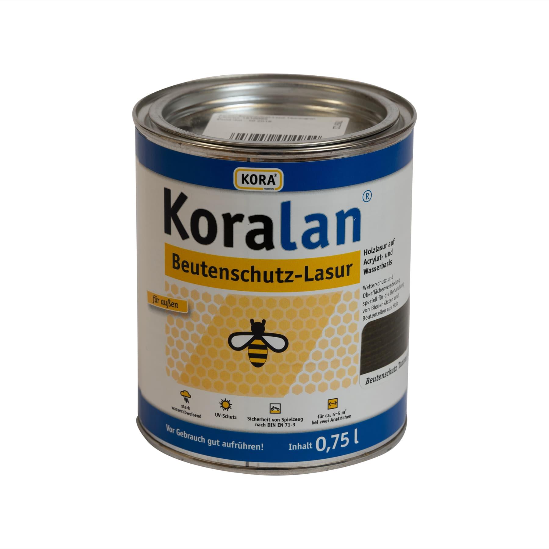 Koralan Beutenschutzlasur Tannengrün 2,5 l Eimer