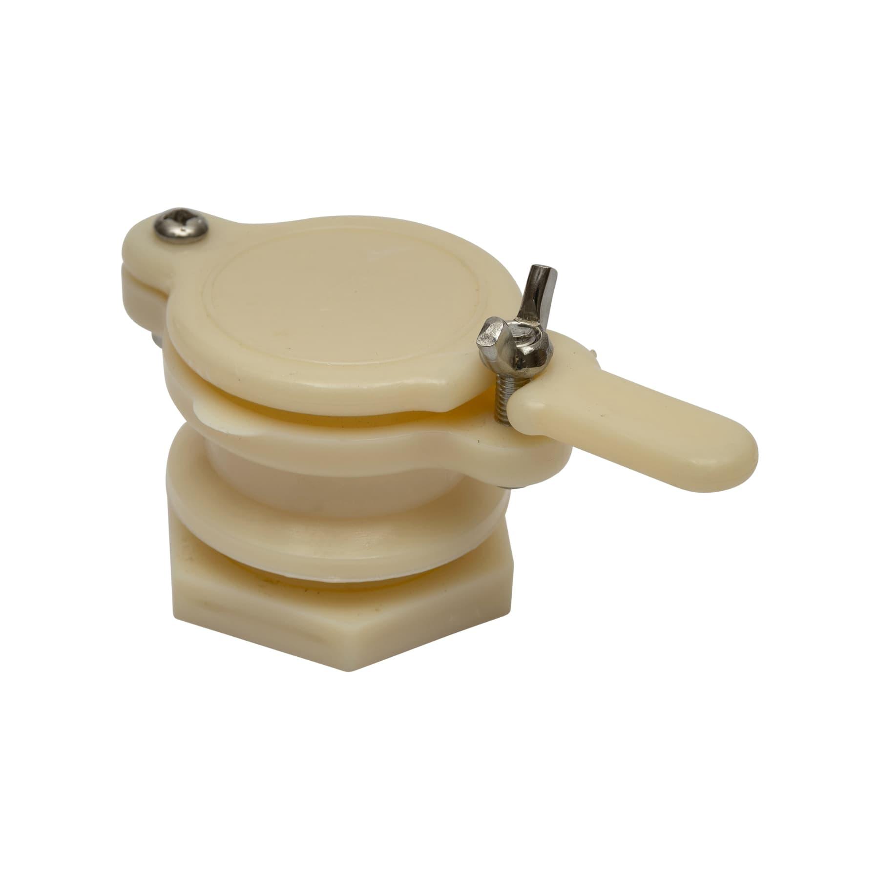 Quetschhahn Kunststoff weiß 40 mm